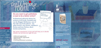 The Writing Room website screenshot